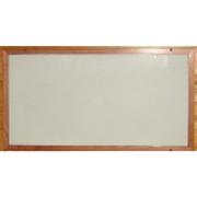 Skleněný topný panel infratopení 300 W, rám smrk